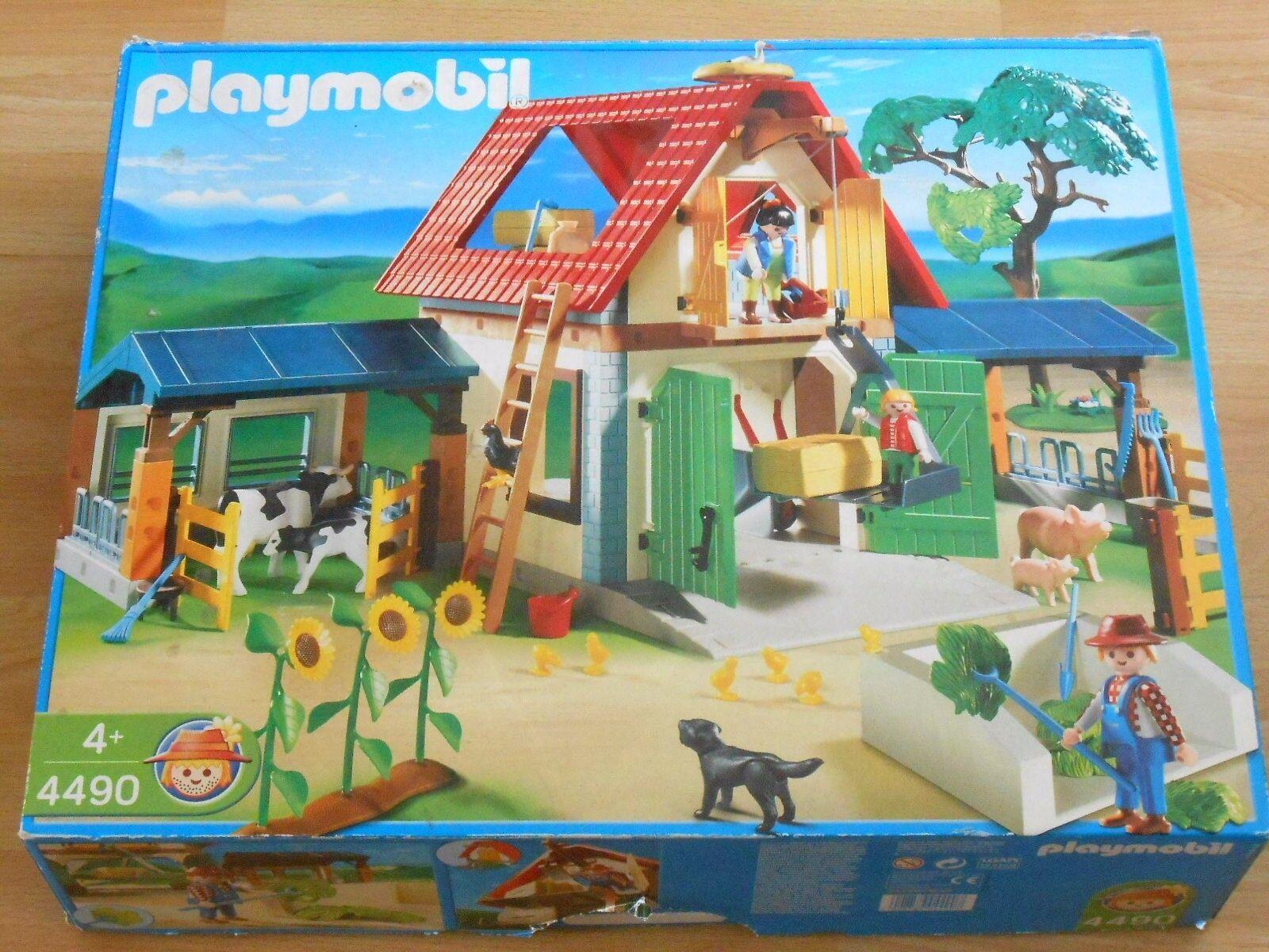 Playmobil großer Bauernhof Bauernhof Bauernhof 4490 mit Verpackung 551aaa