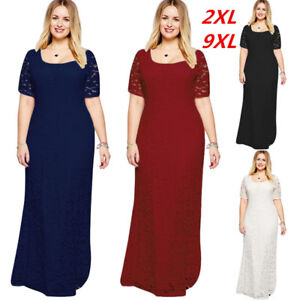 e7c2cb04b1f Women's Plus Size Short Sleeves Evening Cocktail Party Gown Long ...