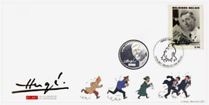 Tintin-100-ans-Herge-Numisletter-de-la-Poste-Belge-amp-Monnaie-Royale-de-Belgique
