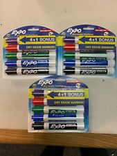 Expo 1965014 Dry Erase Markers 3 Pack X5 Markets Brand New