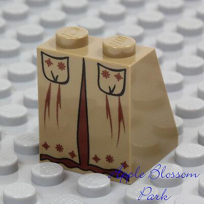 NEW Lego Female Dark TAN MINIFIG SKIRT Princess Girl Dress Castle Apron Bottom