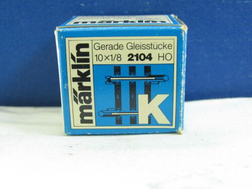 Märklin h0 2104 K y237 1 x droit compensation pièce 1//8