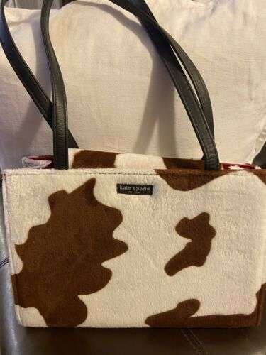Fun Furry Cow Print Tote Bag Purse Wow