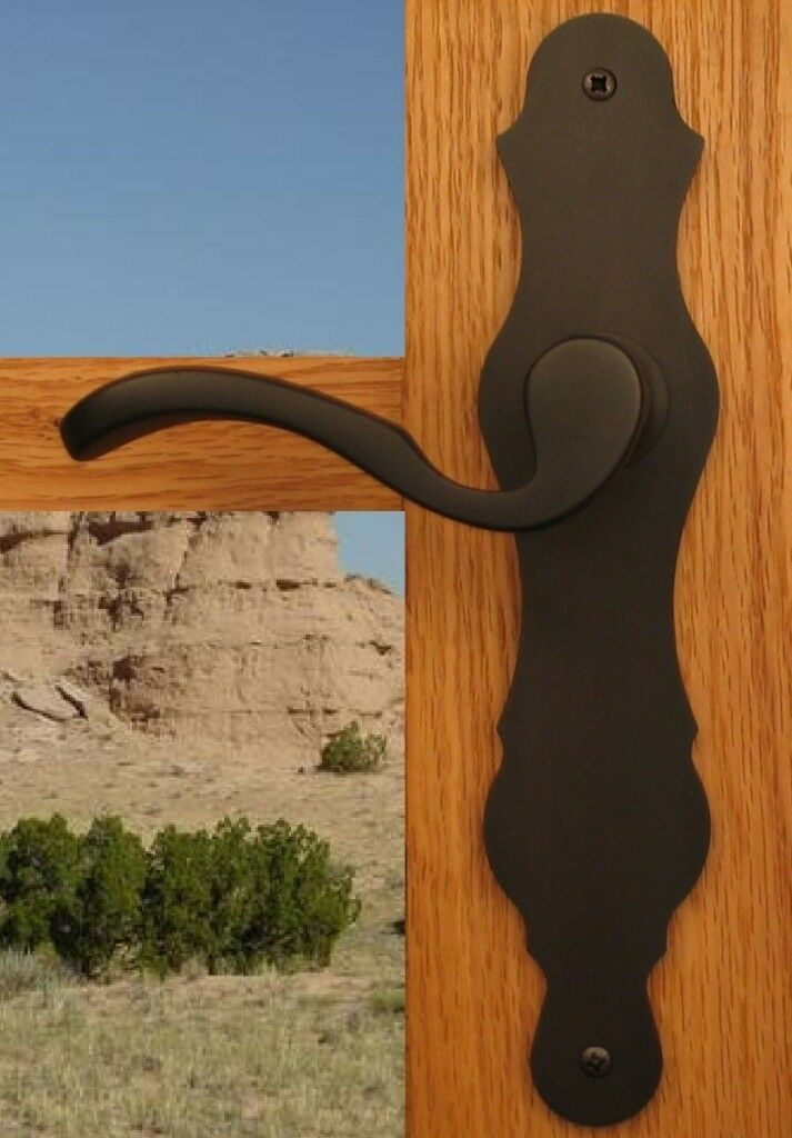 Privacy Door Lever Handles Hardware Santa Fe Right Hand Distressed Dark Bronze