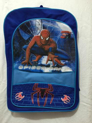 BNWT Boys Super Cool Blue Spiderman Backpack Gear School Sports Carry On Bag