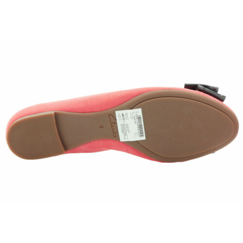 Clarks Womens Smart Clarks Alicia Allie Suede Shoes In Coral Various Sizes