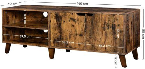 TV-Schrank Lowboard Fernsehtisch mit 2 Türen TV-Regal Fernsehschrank bis 60 Zoll
