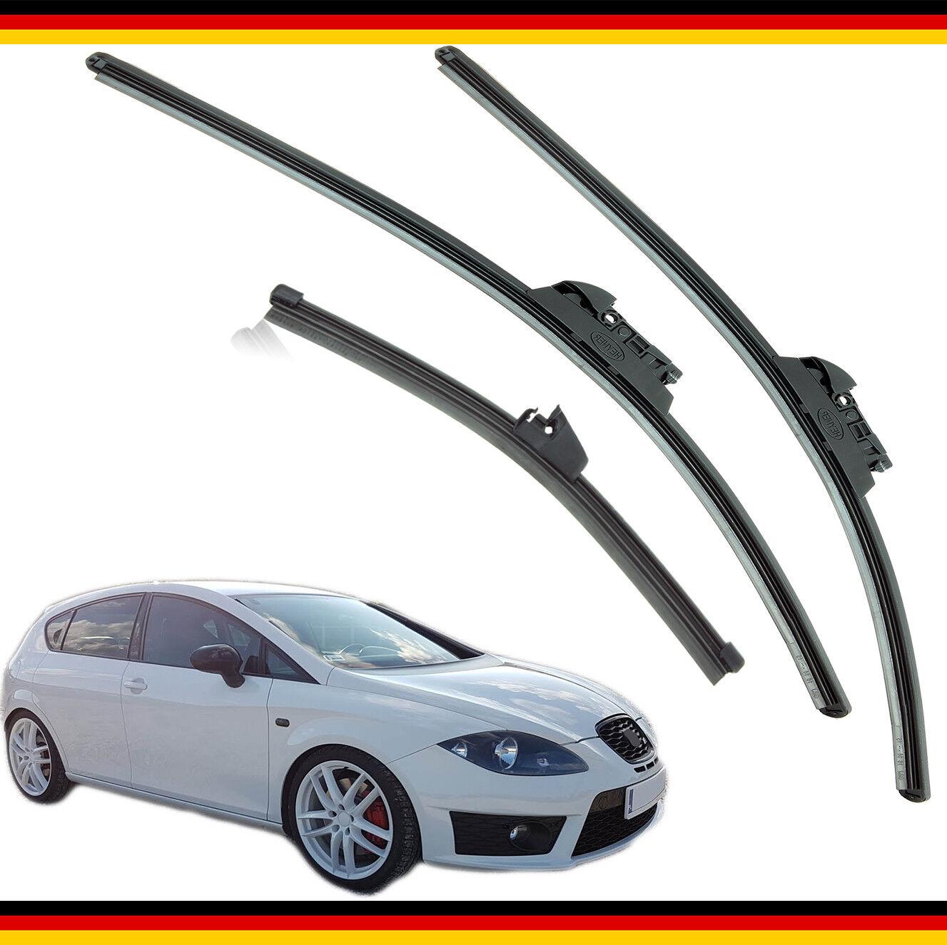 """Seat Leon 2009-2012 HEYNER SUPER FLAT PREMIUM wiper blades 26/""""26/""""10/""""F set of 3"""