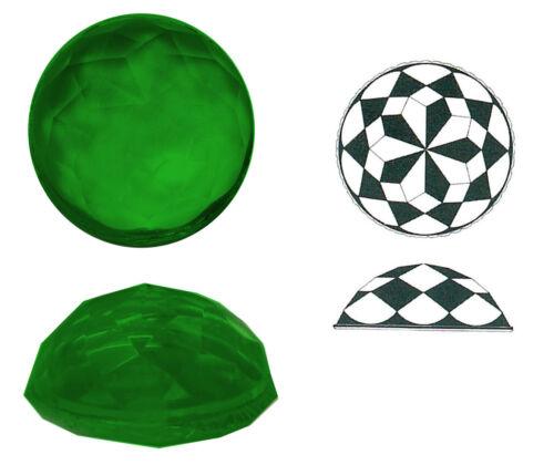 Ränder geschert 27 mm 1 Stk. 12 mm Ø ca h ca Rautenstein aus Glas