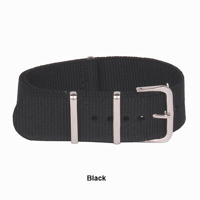 16mm 18mm 20mm 22mm 24mm Solid Cambo Stripe nato Wrist Nylon Watch Strap Band