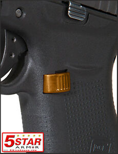 Gold Aluminum Extended Magazine Release Button For Glock 43 9mm