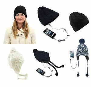 Image is loading KitSound-Audio-Beanie-Cable-Knit-Headphone-Hat-With- c89cb220177