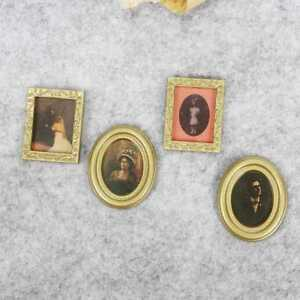 PRO-Miniature-1-12th-Scale-Set-of-4-Assorted-Photo-Frames-DIY-Dolls-House