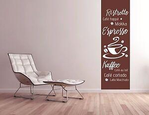 Details zu Wandtattoo Wohnzimmer Wandtatoo Küche Wandbanner Banner  Kaffeetasse Mokka pkm65