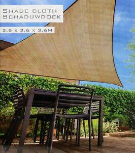 Sonnensegel 3 6m Sonnenschutz Sonnendach Beschattung Dreieck