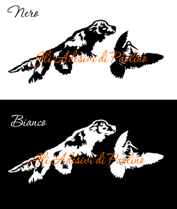 ADESIVO-SETTER-INGLESE-Scolopax-Rusticola-Hunting-Stickers-woodcock-caccia