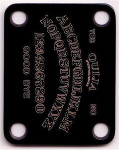 AgréAble Gravé Gravé Guitar Neck Plate Fender Taille-oui-ja-noir-afficher Le Titre D'origine