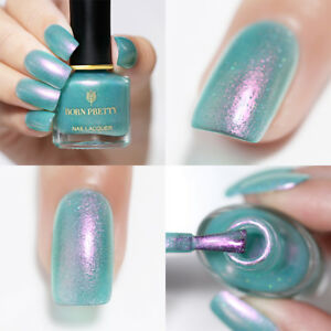 BORN-PRETTY-Nail-Art-Polish-Chameleon-Mermaid-Glitter-Blue-Varnish-BP-FS01-6ml