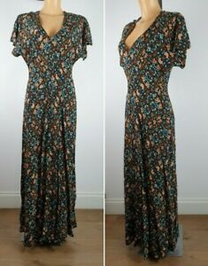 NEW-Yessica-Floral-Print-Maxi-Dress-BLACK-Summer-Holiday-Dress-Size-6-18