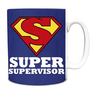 royal blue super supervisor hero novelty job title mug funny 200 ebay