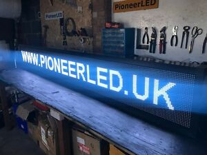 250cm LONG  WIFI LED Scrolling Sign Digital Programmable Moving Message Display - Barnet, United Kingdom - No returns Most purchases from business sellers are protected by the Consumer Contract Regulations 2013 which give you the right to cancel the purchase within 14 days after the day you receive the item. Find out more about your ri - Barnet, United Kingdom