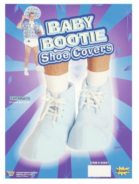 Baby Booties Blue Boot Shoe Covers Adult Costume Accessory Shower Prop Sissy New
