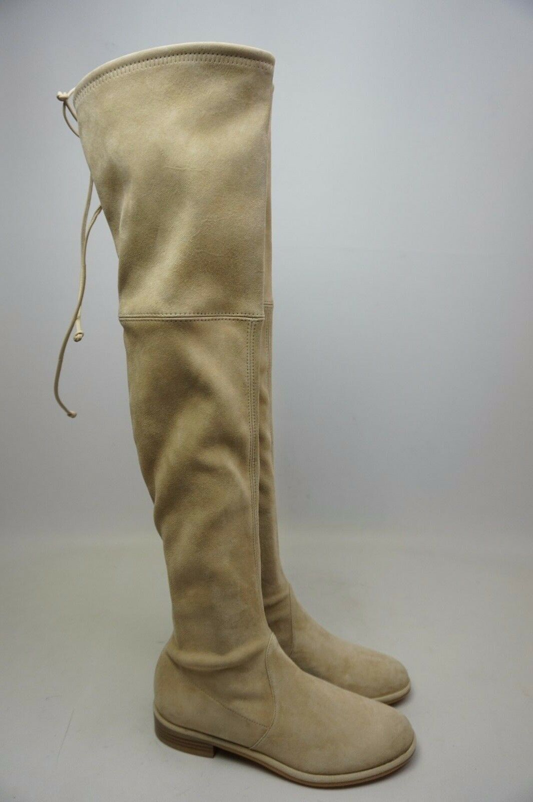 Stuart Weitzman Lowland Over the Knee Suede Boots Buff Size 5 M