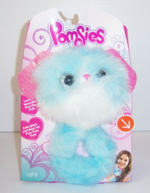Pomsies Lovable Wearable Pom Pom LuLu Interactive Plush Toy - New
