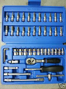 """Socket Set 4mm to 14mmKINGTONY 46pc. 1/4"""" Dr.Socket Set (TOOL KIT)"""