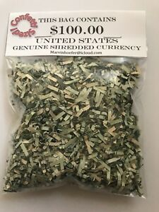Shredded-Money-CASH-U-S-Currency-100-Authentic-Federal-Reserve
