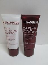 KERANIQUE Scalp Stimulating Shampoo & Volumizing Keratin Conditioner 1 oz ea