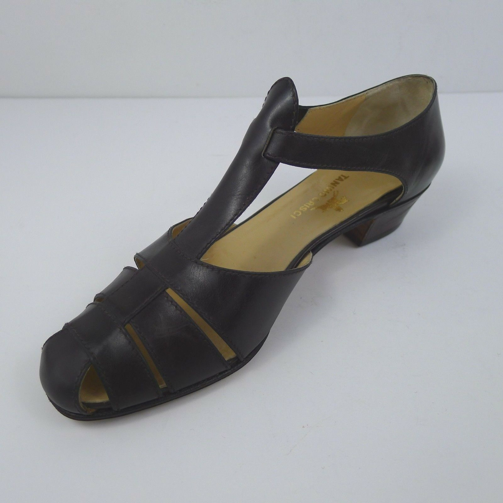 Vintage Tanino Crisci Crisci Crisci Donna  Low Heels Leather Sandals Made in  US 6.5 d2a0ae