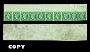 FRANCE-1854-5c-Green-NAPOLEON-HEAD-TRIP-OF-1-COPY