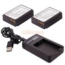 Lot2 LP-E10 Battery for Canon EOS Rebel T3/T5 Rebel 1100D Kiss X50 + USB Charger