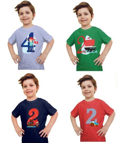T-shirt Anniversaire Garçon Anniversaire shirt Nombre personnalise de nombreux motifs