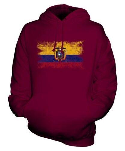 Ecuador Distressed Flagge Unisex Kapuzenpulli Top Ecuadorianischer