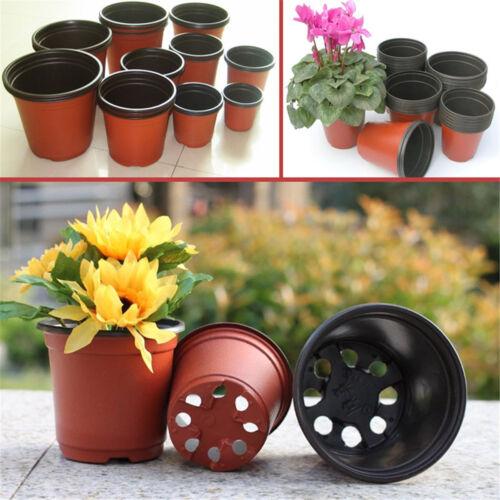 100Pcs Plastic Flowerpot Flower Nursery Pots Garden Seedling Planter Container