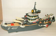 % 1960'S BATTERY OPERATED DELUXE READING B-400 BATTLESHIP 32 INCHES LONG