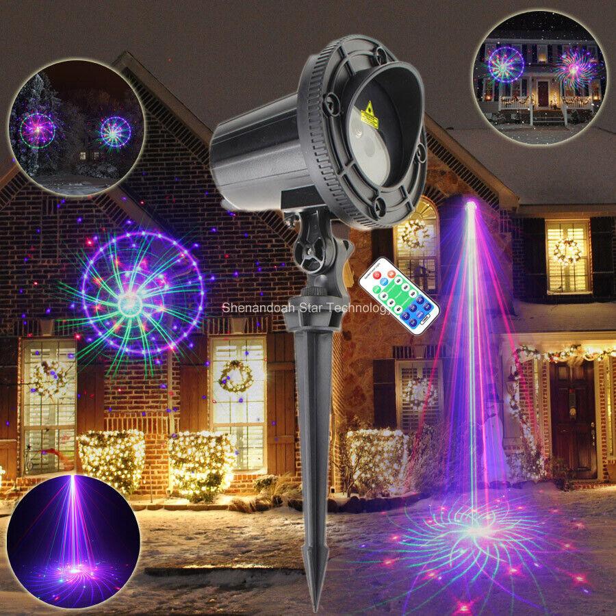 Wall Light Landscape Garden DJ Tree Xmas Patterns 72 Laser