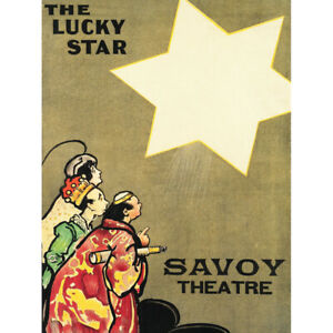 Hardy-Lucky-Star-Theatre-Show-Savoy-Advert-Canvas-Art-Print-Poster