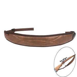 Tourbon-Rifle-Sling-Gun-Strap-Non-slip-Padded-Shooting-Hunting-Retro-PU-Leather