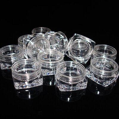 50pcs 3g Cosmetic Empty Jar Pots Eyeshadow Makeup Face Cream Lip Balm Container