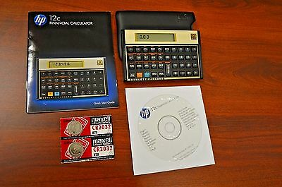 HP-12C Financial Calculator. Set of Two. Slight scratches and dents. Complete.