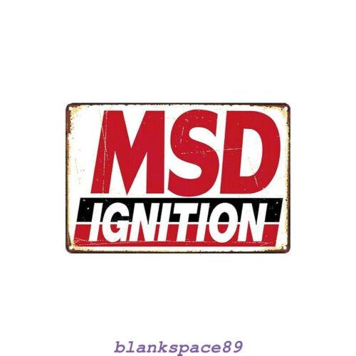Metal Tin Sign msd ignition Decor Bar Pub Home Vintage Retro Poster