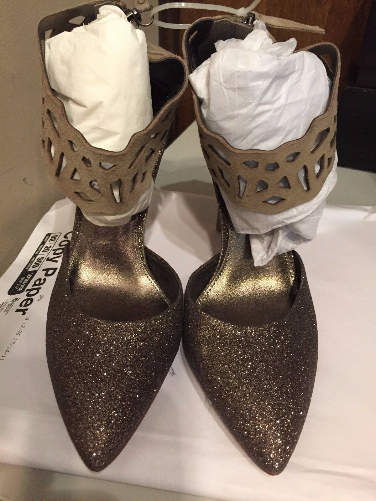 Rebecca Taylor Skylar Glitter Pumps, oro Glitter Dimensione 8