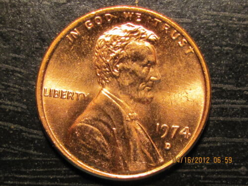 1974 D Lincoln  Memorial Cent from Roll-Tempting BU