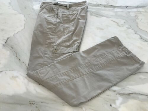 THEORY FANYAN SPIRIT BEIGE COTTON CARGO PANTS 6067