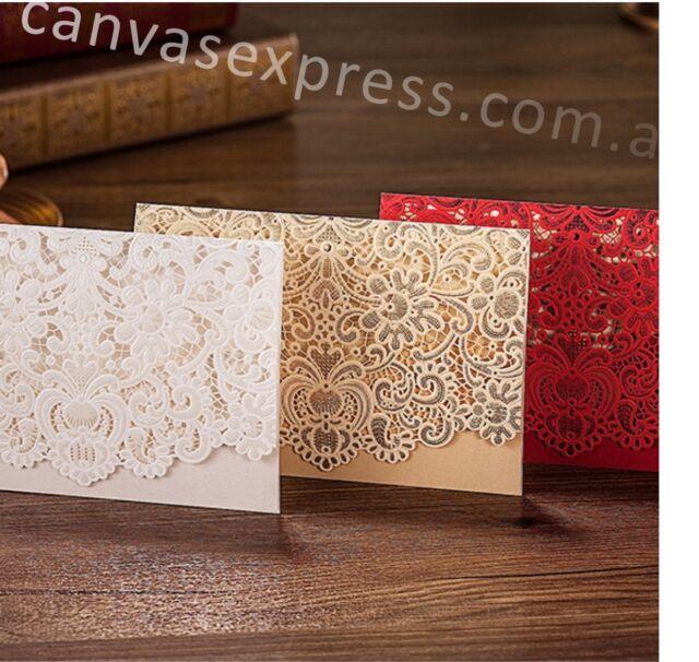 Wedding invitations Elegant Design Embossed Laser Cut. (Can Be Custom Printed)