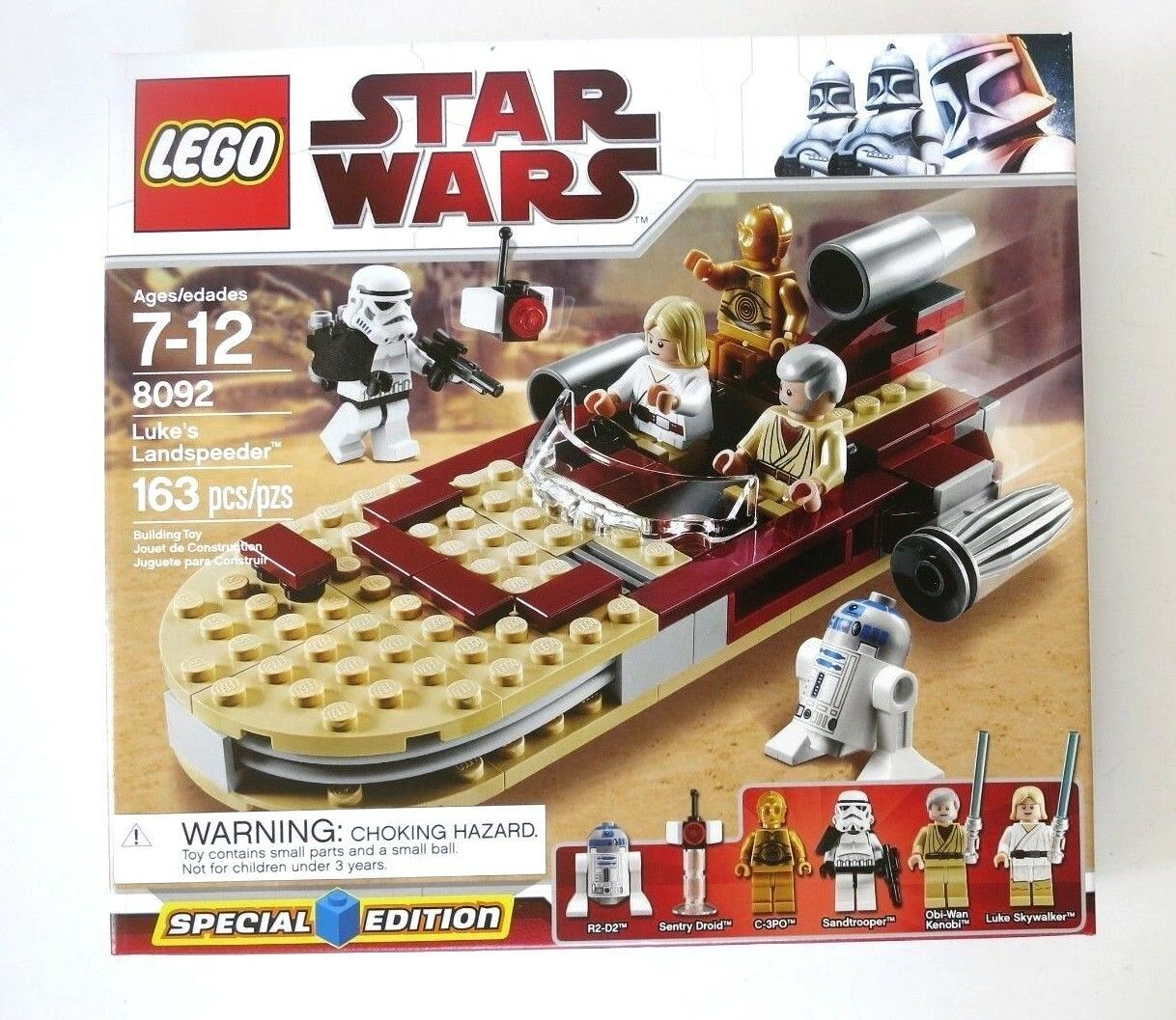 LEGO STAR WARS SET 8092 LUKE'S LANDSPEEDER RETIROT NEW FACTORY SEALED