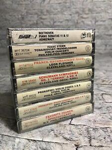 CBS-Great-Performances-7-Cassette-Lot-Schuman-Beethoven-Tchaikovsky-Classical